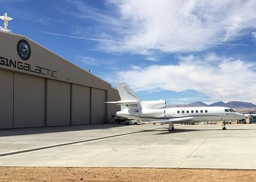 private jet outside of hangar