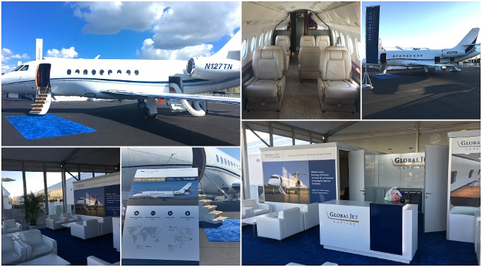 global jet capital business aircraft collage