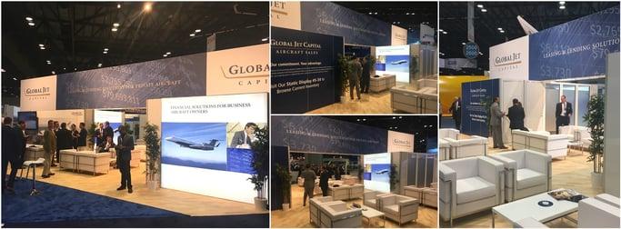 nbaa 2016 global jet capital booth collage