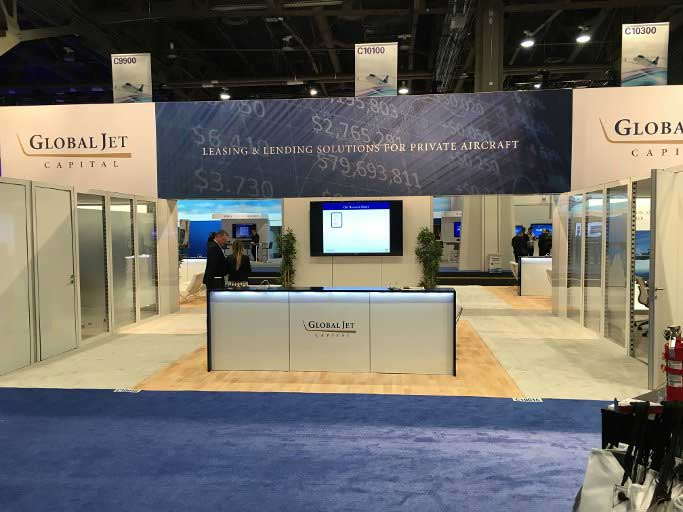 global jet capital booth at nbaa 2015