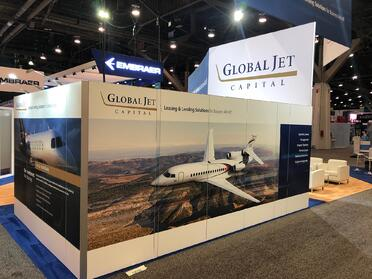 global jet capital indoor booth at nbaa 2019
