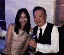 leona qi and herman chai at charity gala
