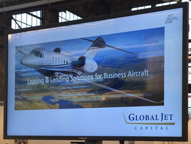 global jet capital screen at art dusseldorf