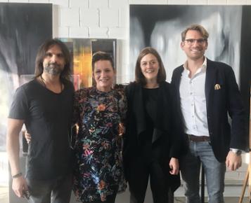 Global Jet's Alex Asche at Art Dusseldorf 2018