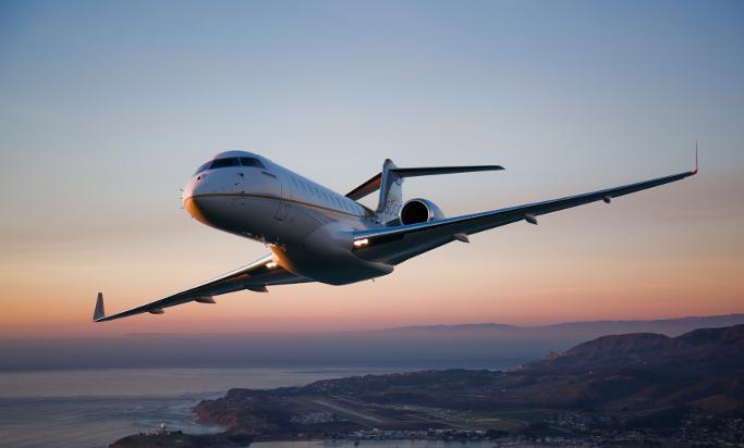 private jet soaring