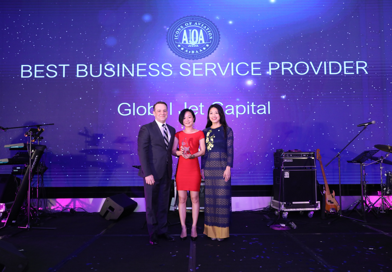 global jet capital named best business service provider at asbaa icons of aviation awards 2019