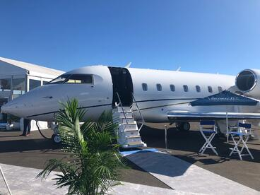 global jet capital bombardier challenger 604 static display at nbaa 209