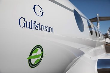 gulfstream jet using SAF