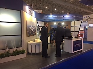 global jet capital booth at 2015 dubai airshow